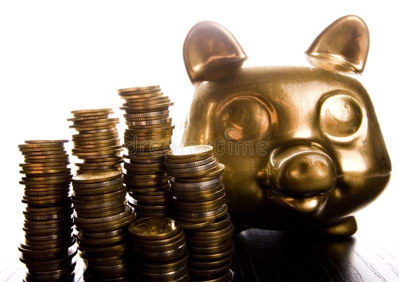 bank złota świnka zdjęcia stock