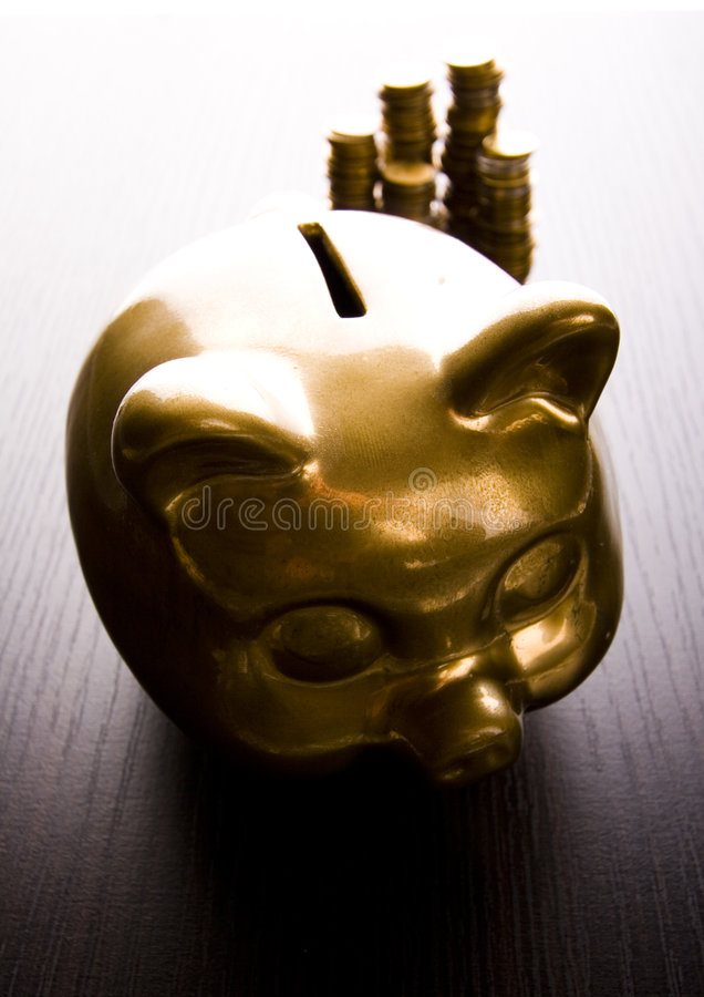 bank złota świnka obraz royalty free
