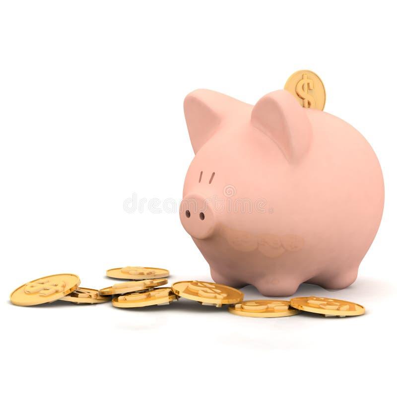 banka świni prosiątko royalty ilustracja