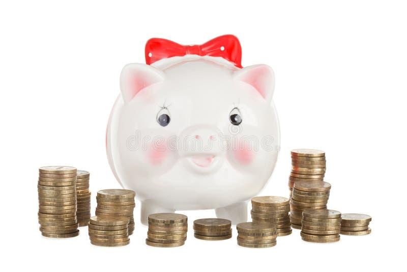 banka świni prosiątko obraz royalty free