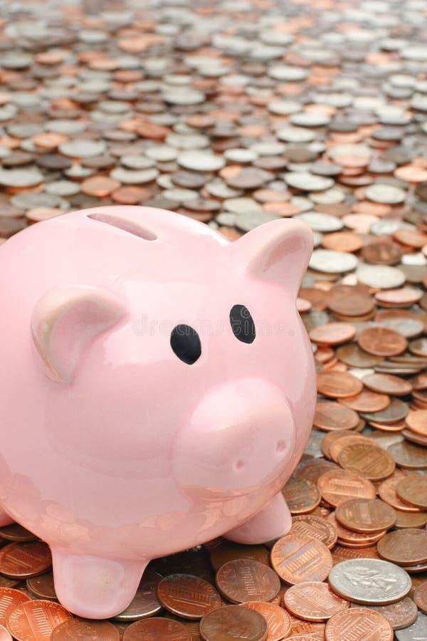banka biznesowy pojęcia finanse pieniądze nad prosiątkiem zdjęcie stock