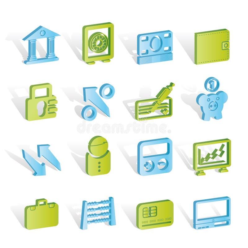 banka biznesu finanse ikony ilustracji