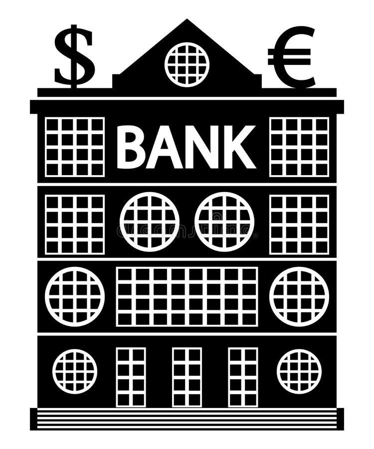 Banka budynek na bielu ilustracja wektor