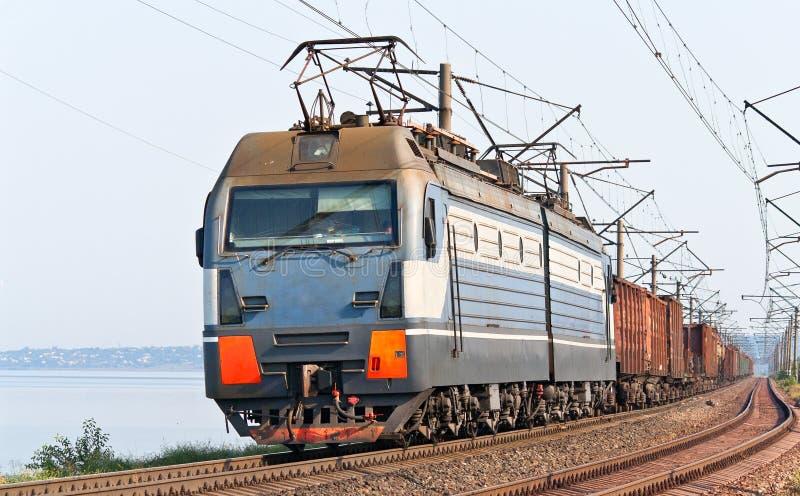 banka dnieper pociąg towarowy obraz stock
