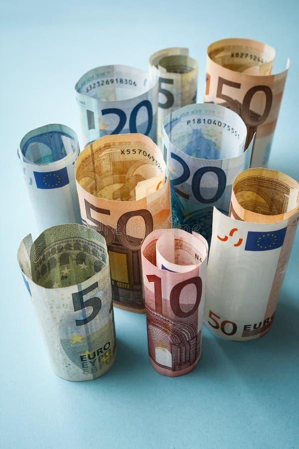banka euro pięć ostrości sto pieniądze nutowa arkana obrazy stock