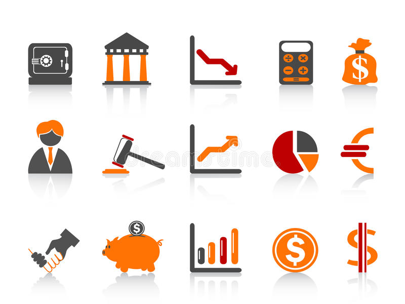 banka koloru ikon serie proste ilustracja wektor