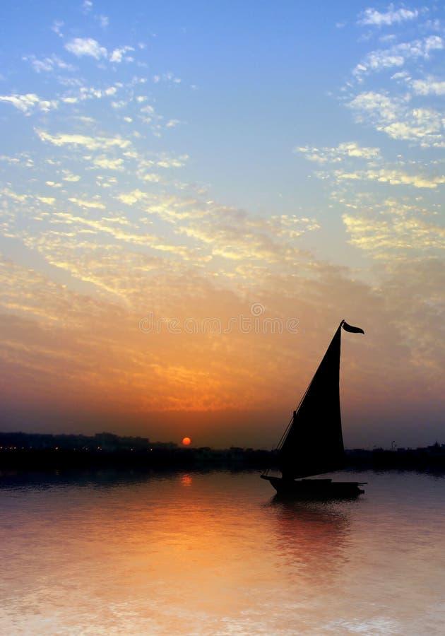 banka Nile rzeka obrazy stock