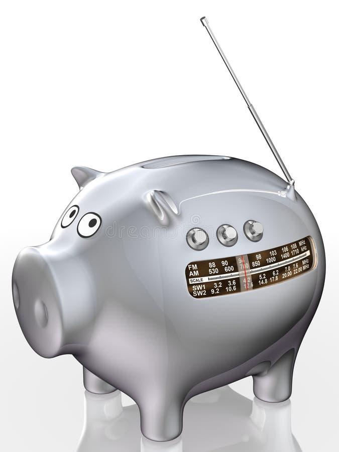 banka prosiątka radio royalty ilustracja