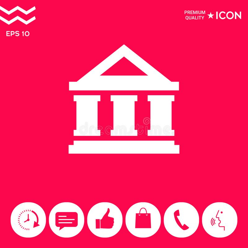 Banka symbolu ikona royalty ilustracja