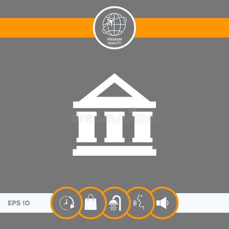 Banka symbolu ikona ilustracji