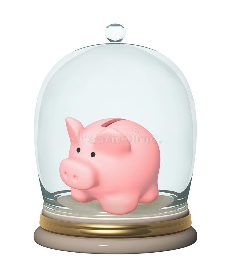 banka wkładów ochrona royalty ilustracja