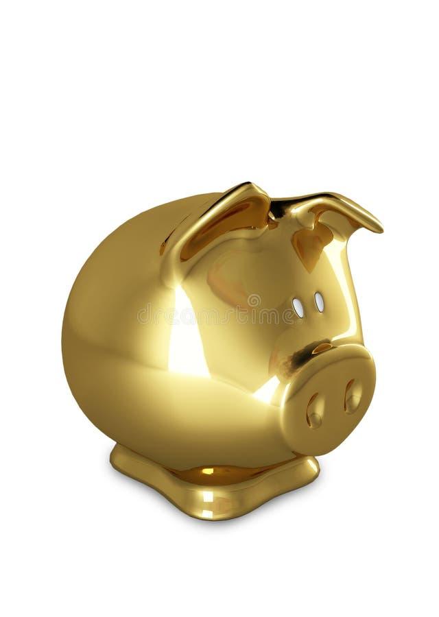 banka złota odosobniony prosiątko ilustracja wektor