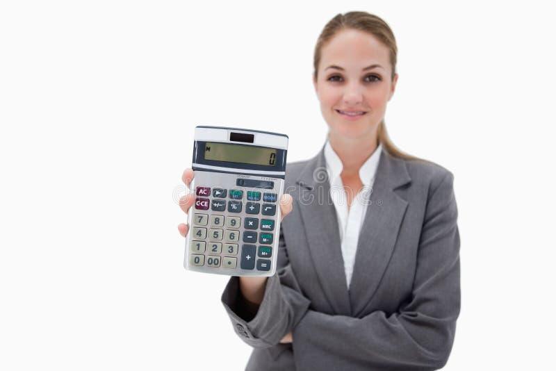 Bankangestellter, Der Ihren Taschenrechner Zeigt Stockbild - Bild ...