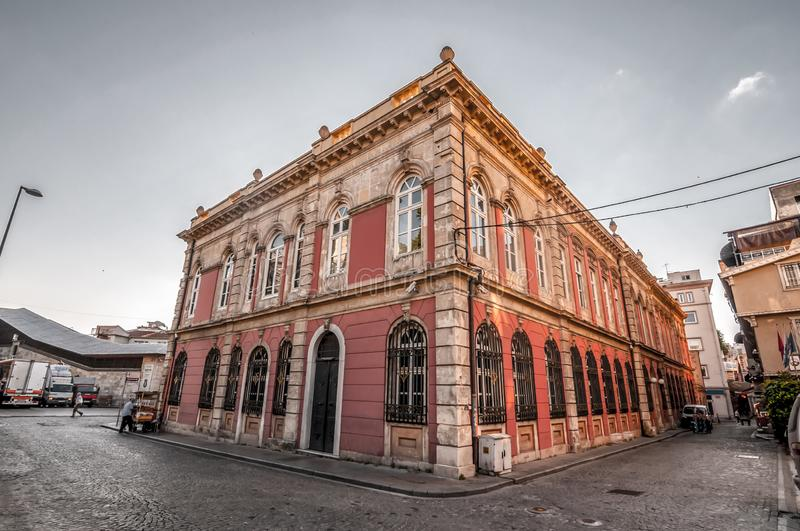 Is Bankasi Museum, Istanbul. Istanbul, Turkey - June 27, 2019: Turkiye Is Bankasi Turkish Business Bank Museum in Eminonu, Istanbul`s most touistic and crowded royalty free stock images