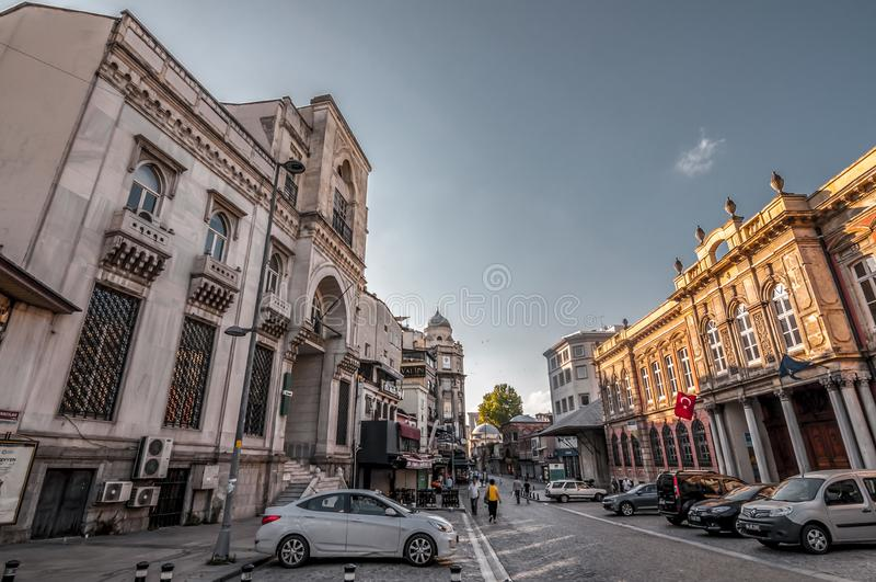 Is Bankasi Museum, Istanbul. Istanbul, Turkey - June 27, 2019: Turkiye Is Bankasi Turkish Business Bank Museum in Eminonu, Istanbul`s most touistic and crowded stock image