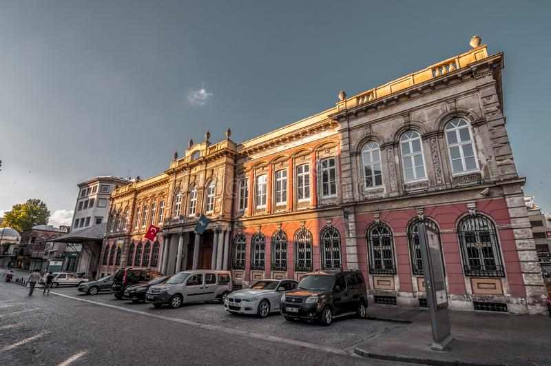 Is Bankasi Museum, Istanbul. Istanbul, Turkey - June 27, 2019: Turkiye Is Bankasi Turkish Business Bank Museum in Eminonu, Istanbul`s most touistic and crowded royalty free stock photography