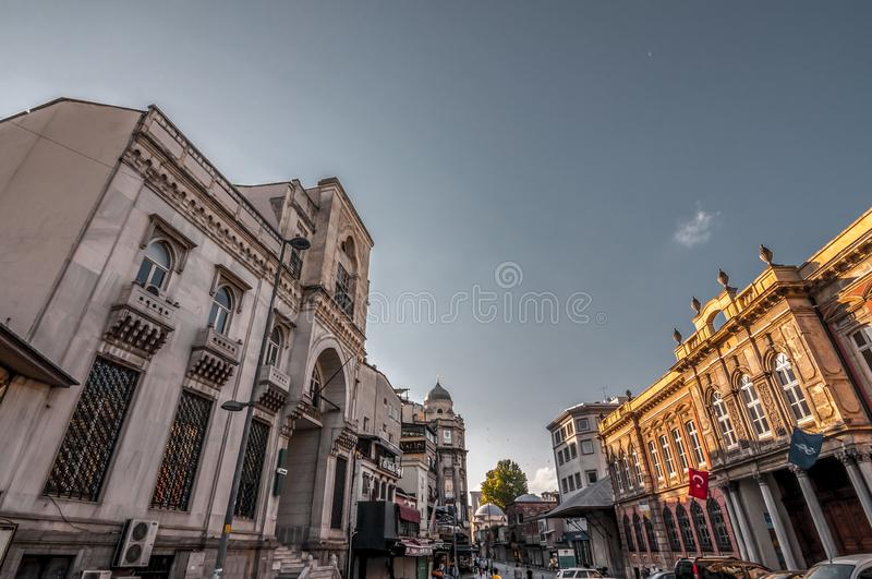 Is Bankasi Museum, Istanbul. Istanbul, Turkey - June 27, 2019: Turkiye Is Bankasi Turkish Business Bank Museum in Eminonu, Istanbul`s most touistic and crowded stock images