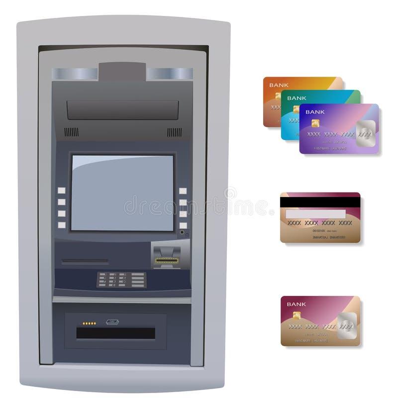 Bankautomat vektor abbildung