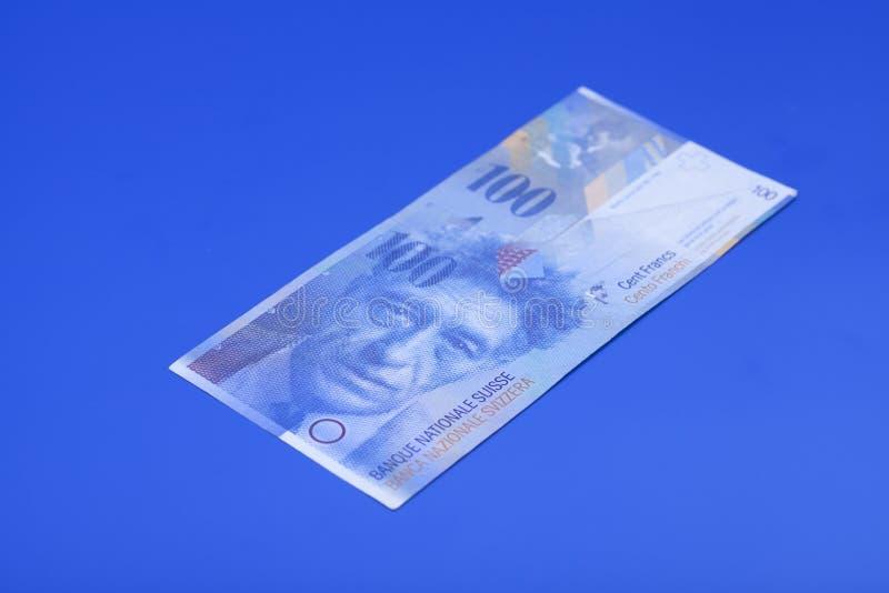 Bankbiljet honderd Zwitserse Franken royalty-vrije stock fotografie