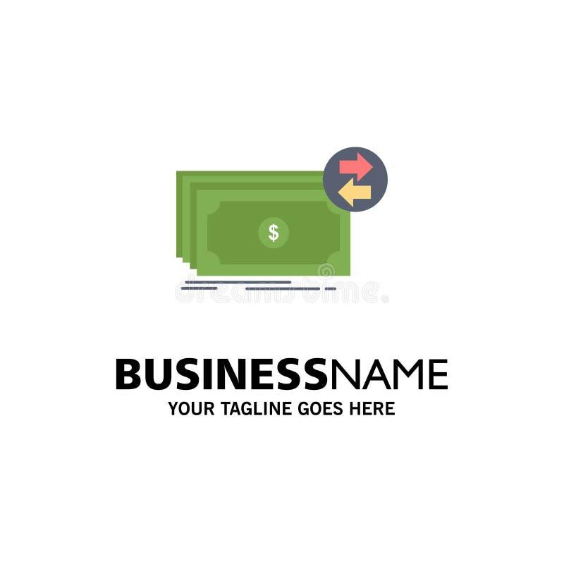 Bankbiljetten, contant geld, dollars, stroom, het Pictogramvector van de geld Vlakke Kleur stock illustratie