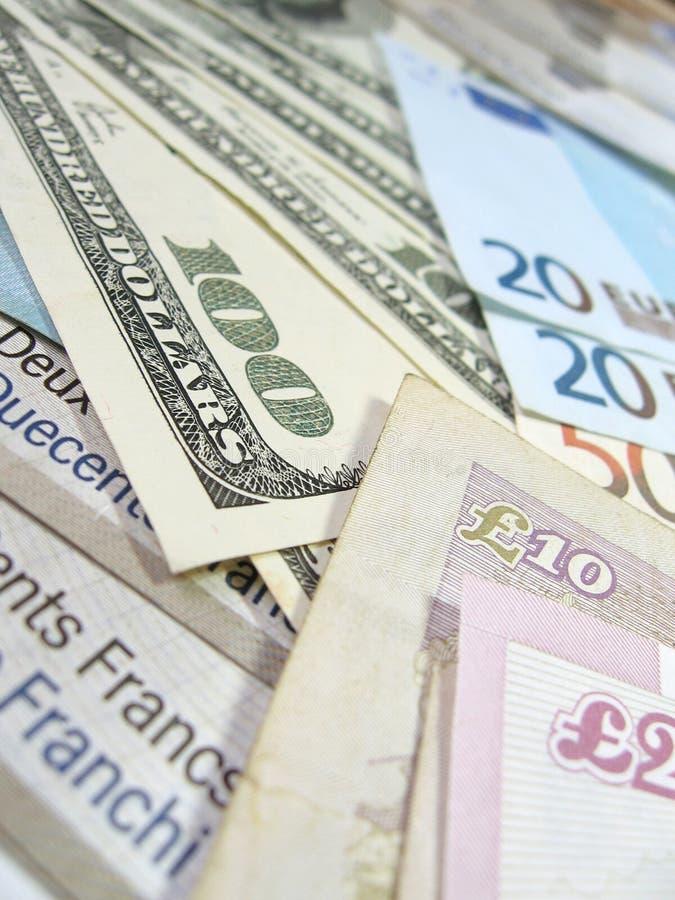 Bankbiljetten - wereldgeld royalty-vrije stock afbeeldingen