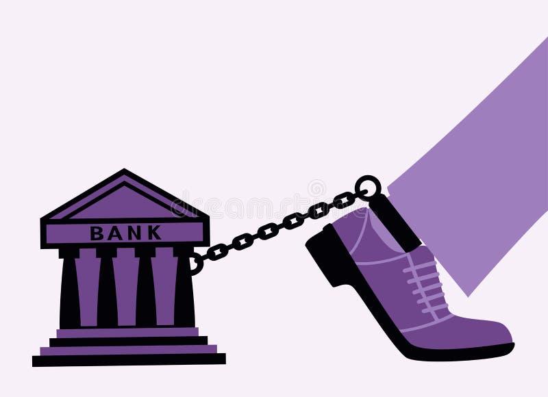 Bankbojor. stock illustrationer