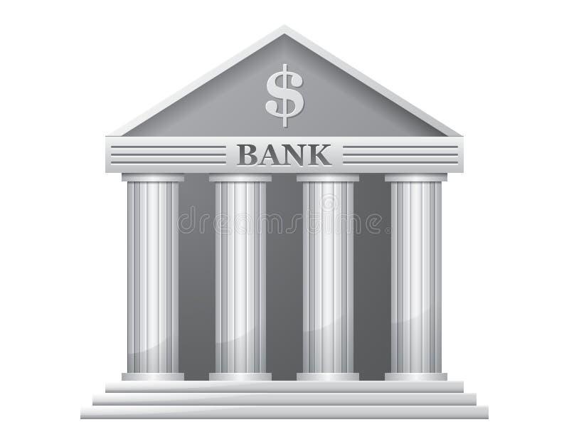 Bankbyggnad royaltyfri illustrationer