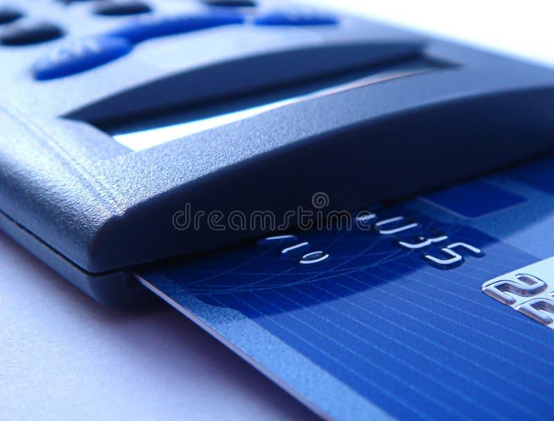 bankcardavläsare arkivbilder