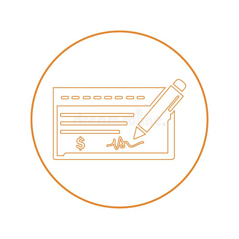 Bankchecksymbol stock illustrationer
