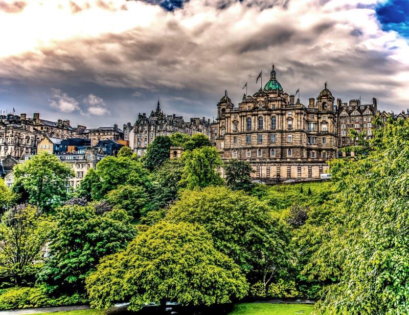Banken av Skottland, Edinburg arkivbild