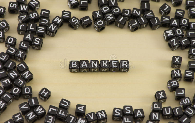 The banker. The concept of the word banker stock photo
