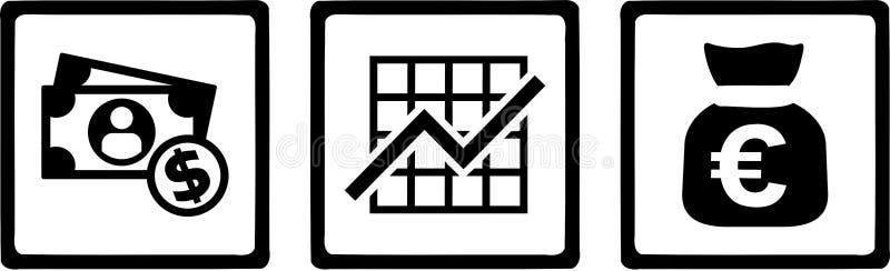 Banker Money Chart lizenzfreie abbildung
