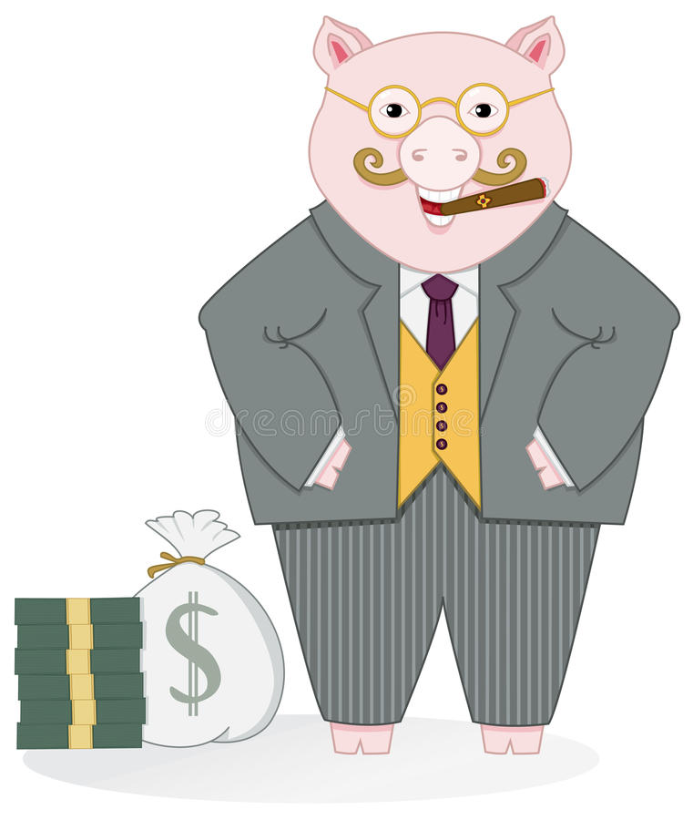 Download Banker Pig Royalty Free Stock Photos - Image: 16023418