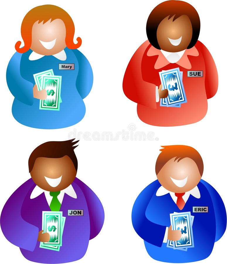 Bankers stock illustration