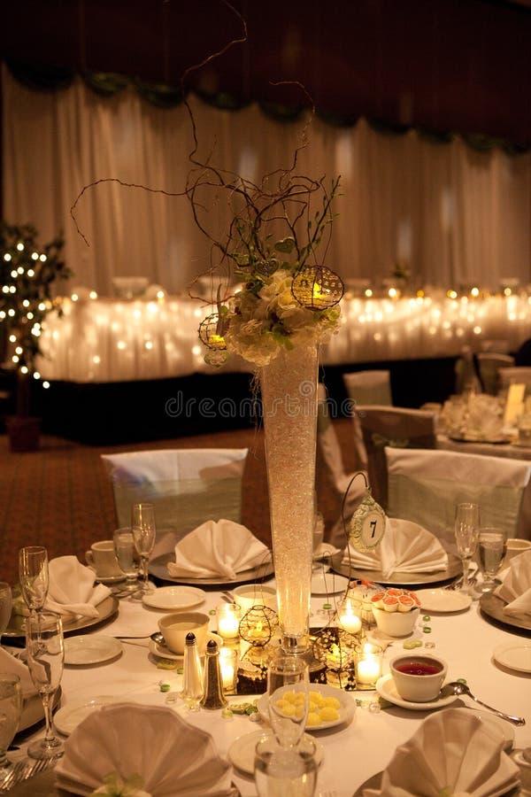 bankettbordsuppsatsbröllop royaltyfri foto