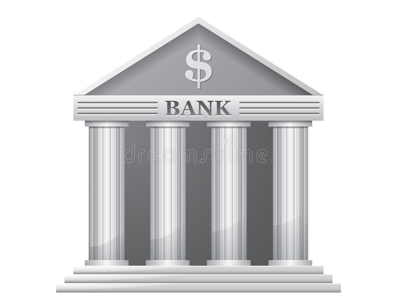 Bankgebäude lizenzfreie abbildung