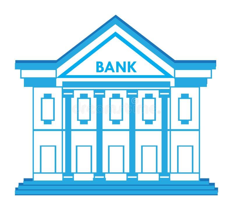 Bankgebäude-Ikone stock abbildung