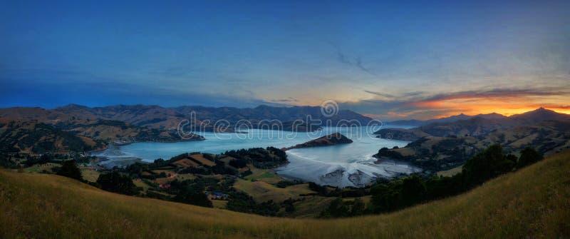 Bankhalvö Christchurch Nya Zeeland fotografering för bildbyråer