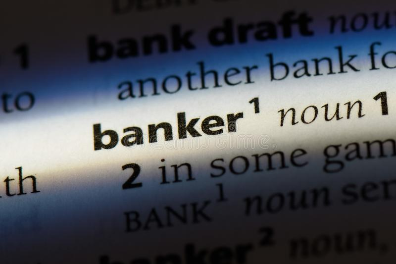 Bankier stock afbeelding