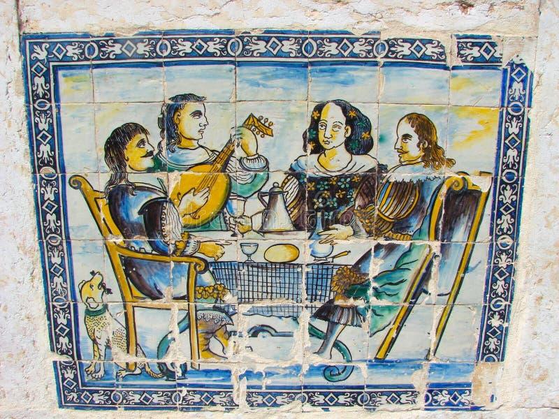 bankiet azulejos Portugal obrazy stock