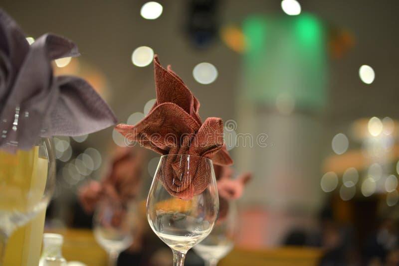 Bankieta ślubu stołu położenie obraz stock