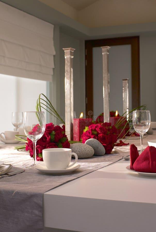 Bankieta hotelowy stół zdjęcia royalty free
