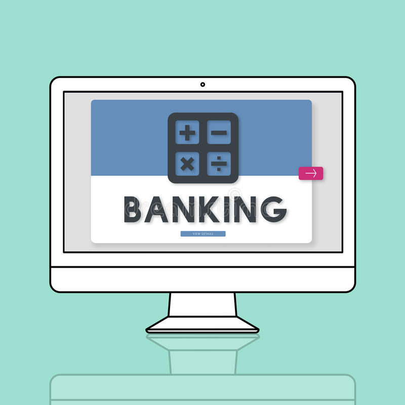 Banking Accounting Calculating Finance Concept vector illustration