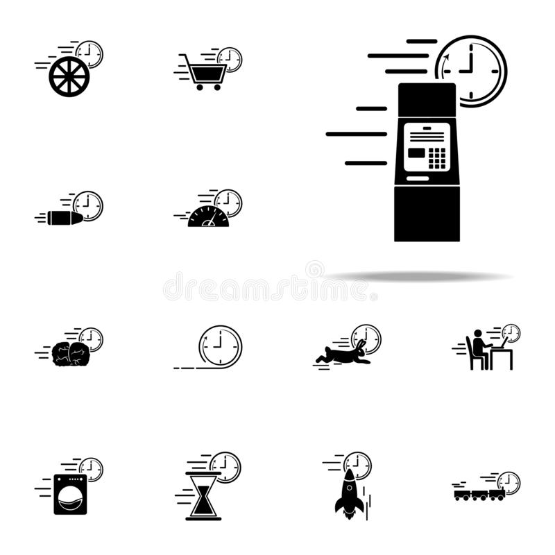 Banking atm speed icon. Speed icons universal set for web and mobile. On white background royalty free illustration