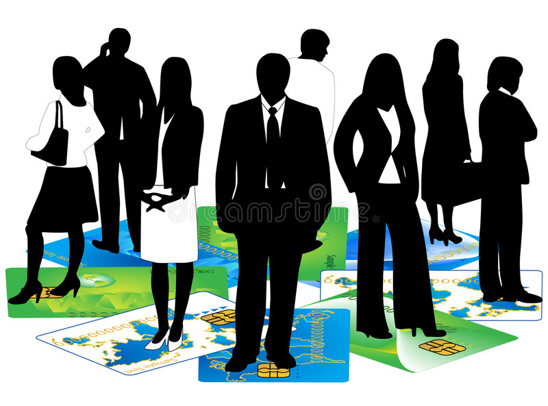 Download Banking Card And Business People Stock Vector - Image: 4774085