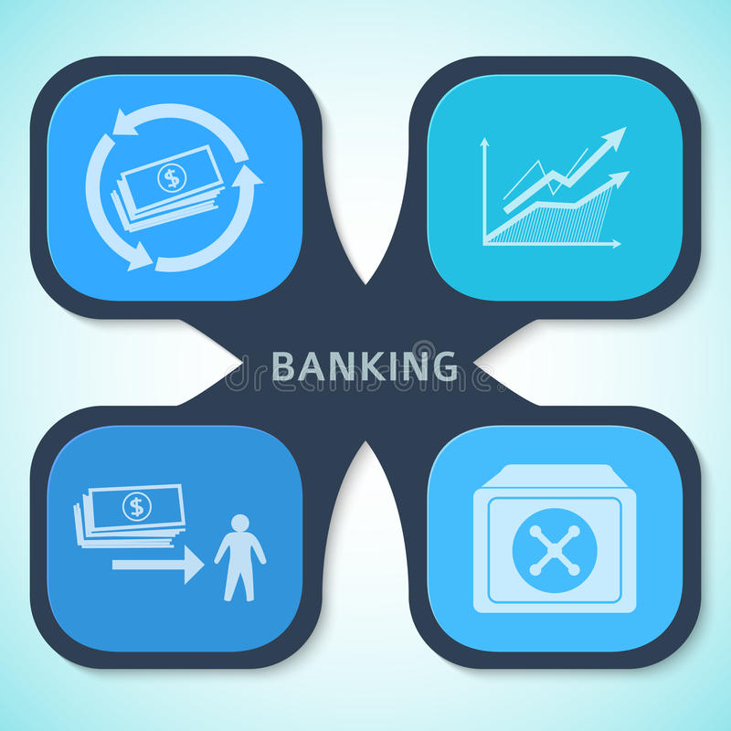 Banking concept style infographics template background flyer vector illustration