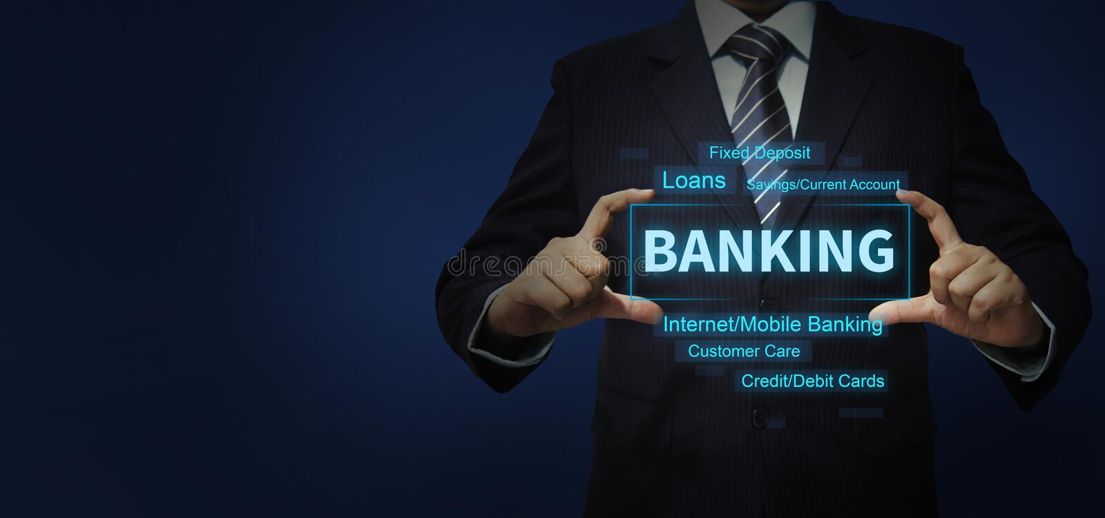 Banking Digital Concept With Business Person Stock Photo - Image of bank,  candidate: 181270090