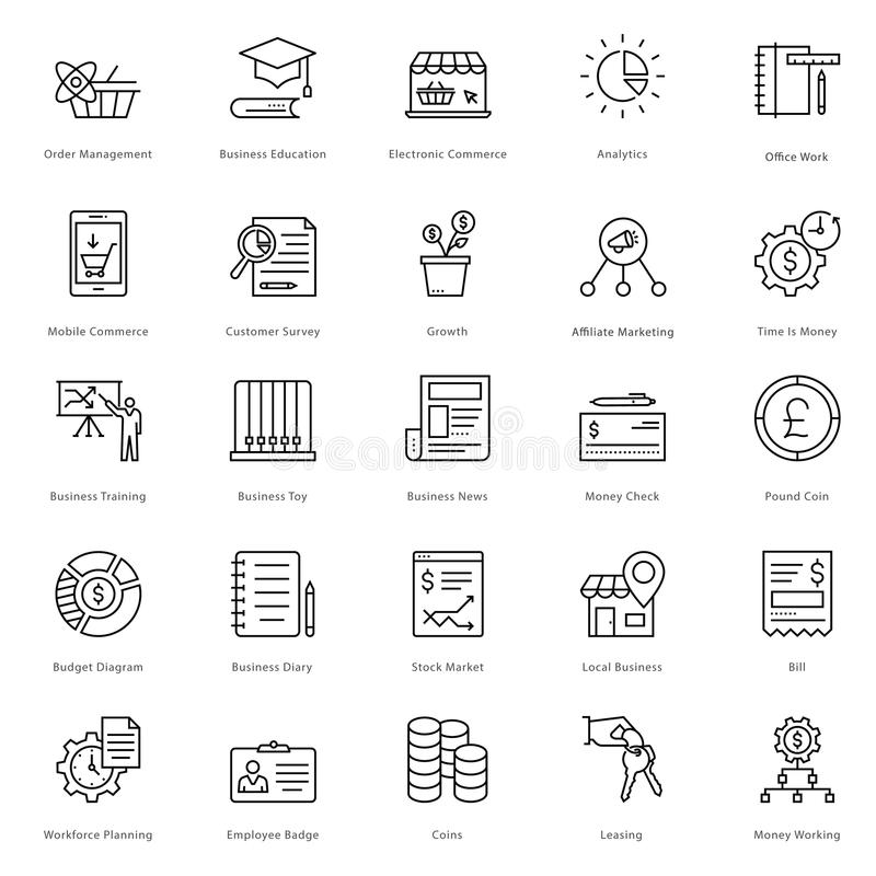 Banking and Finance Line Vector Icons 21 vector illustration