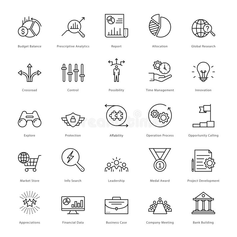 Banking and Finance Line Vector Icons 4 vector illustration