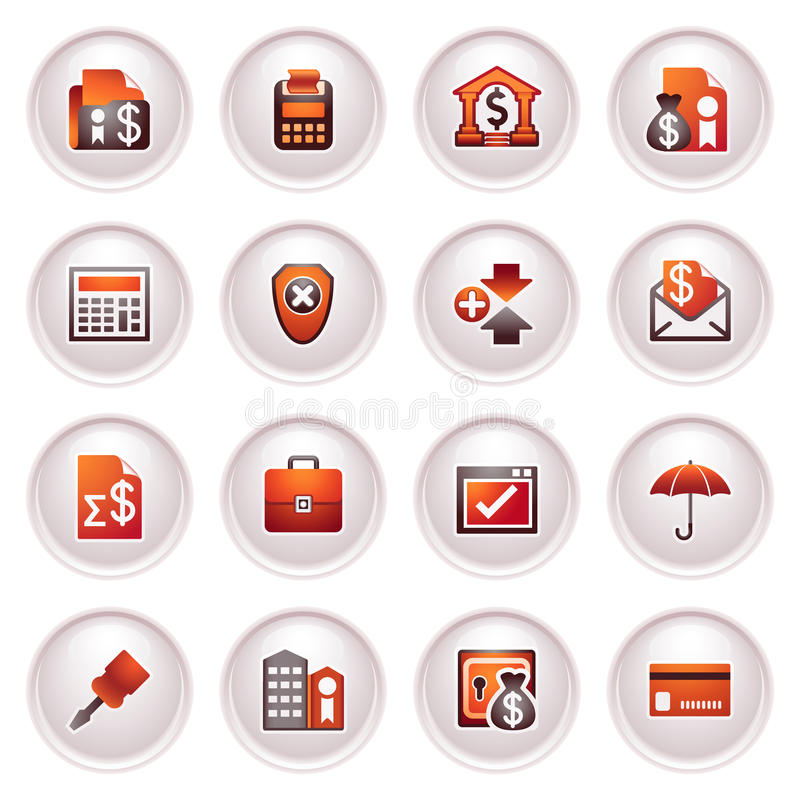 Download Banking Icons. Black Red Series. Stock Vector - Image: 24848811
